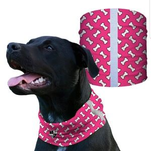 Pink bones Tubular dog Shield Bandana Scarf
